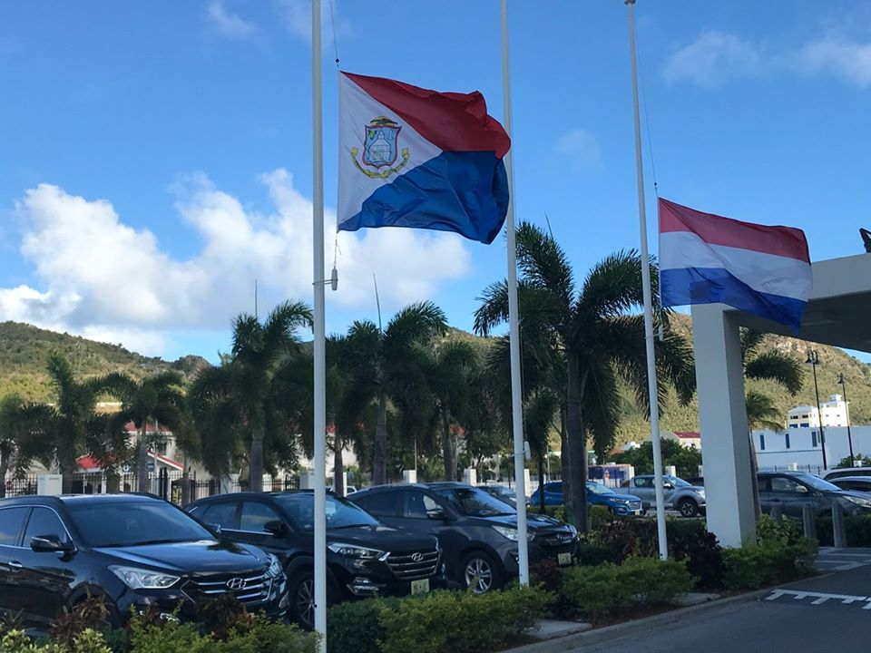 Government Building Flags Half-mast