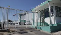 Gate at Pointe Blanche Prison