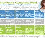 MHF Mental Health Awareness MHA Weekschedule 2020