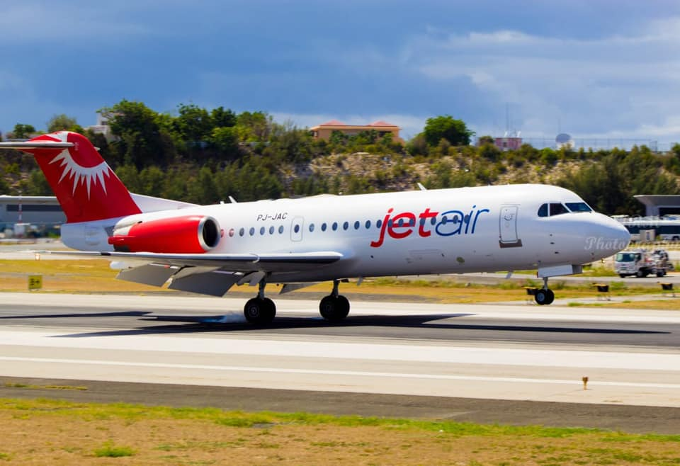 Jetair Caribbean airplane on 25 May 2020 at SXM Airport