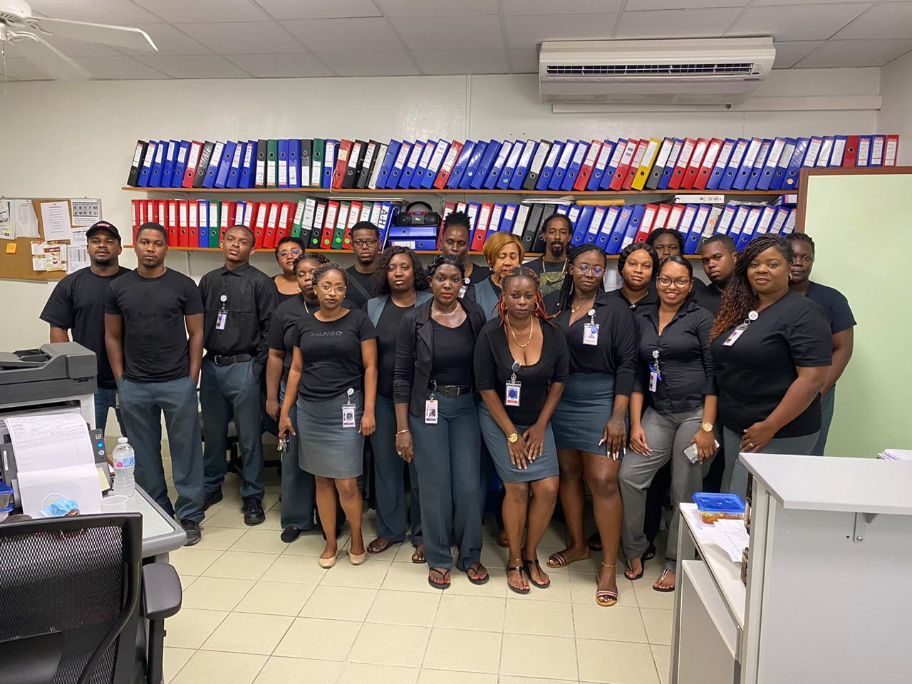 SMMC staff wearing black tops