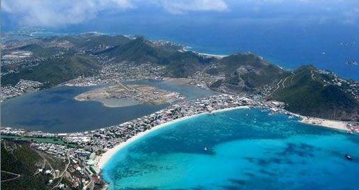 St. Maarten Philipsburg Pond Island aerial photo