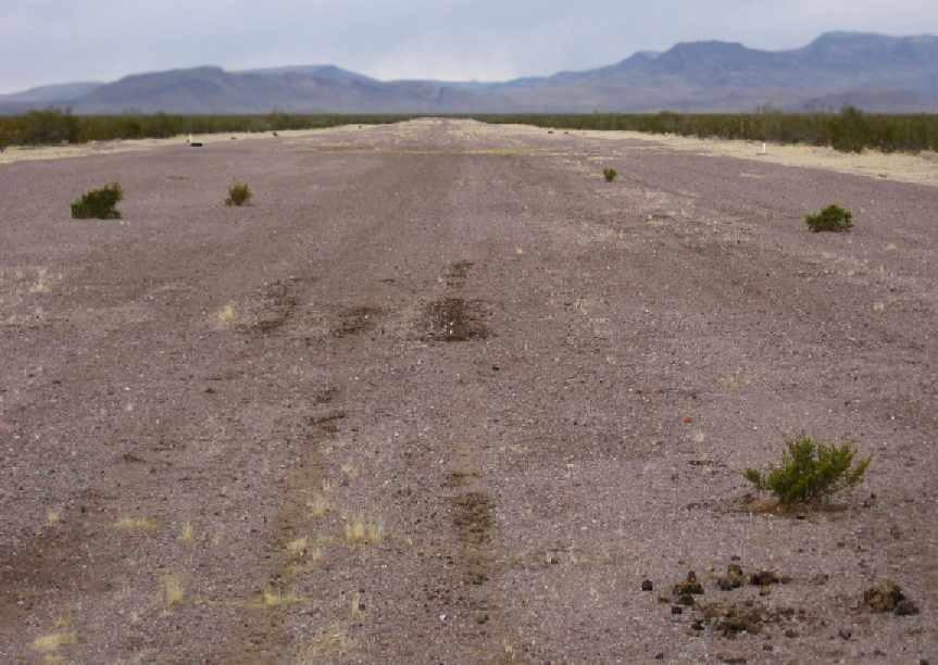 Unpaved dirt runway Jackass Airport