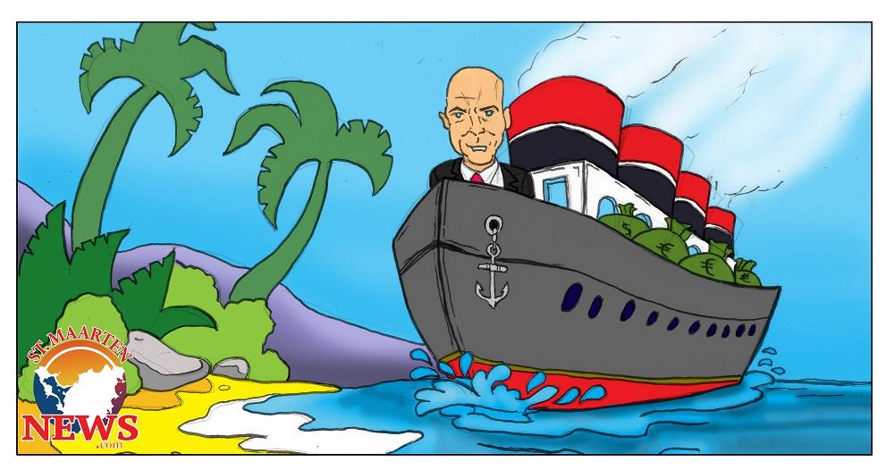 Knops on CRE Money Ship - cartoon